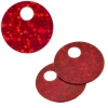 Sequins Hologram 20mm 4mm Hole Round Red